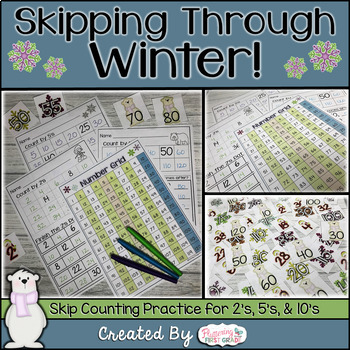 Skipping Through Winter - Skip Counting By 2's, 5's and 10's