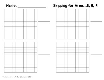 Skipping for Area - Using Skip Counting to Determine Area (Common Core)