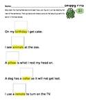 Skippy Frog Reading Strategy Practice Worksheet