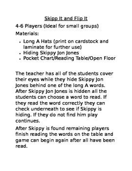 Skippy Jon Jones - Long A (Hide, Read, and Seek)