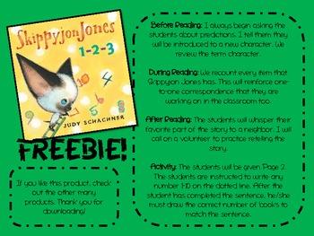 Skippyjon Jones 1-2-3 Response Sheet (FREEBIE)