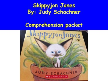 Skippyjon Jones Book Study - Used in Special and General Education Centers