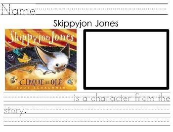 Skippyjon Jones Character Identification Page