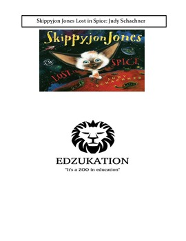 Skippyjon Jones Schachner Lost in Spice Common Core Reading Comprehension Unit