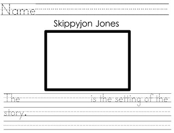 Skippyjon Jones Setting Identification Activity