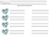 Skippyjon Jones Sight Word Recording Sheet