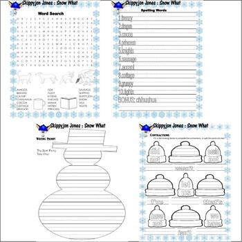 Skippyjon Jones Snow What : Comprehension Book Study Activity Packet 20 pages