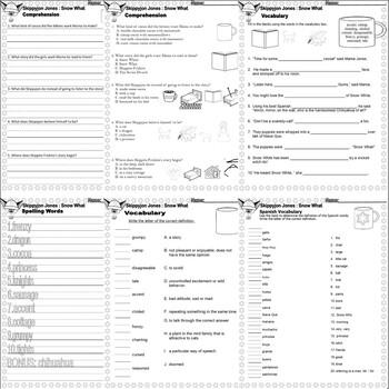 Skippyjon Jones Snow What : Winter Comprehension Book Companion Activity Pack