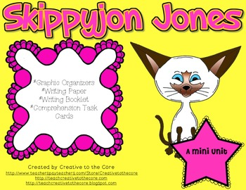 Skippyjon Jones Unit~ Includes Graphic Organizers & Much More!