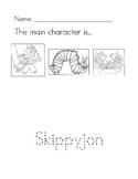Skippyjon Jones main character worksheet