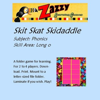 Skit Skat Skidaddle Folder Game Phonics Long o