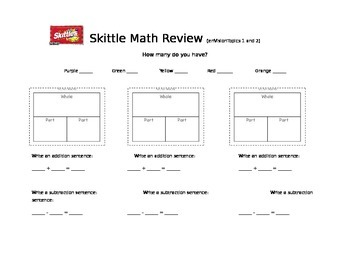 Skittle Addition and Subtraction