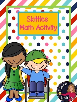 Skittle Math activity fractions, number line, ordering numbers, measuring