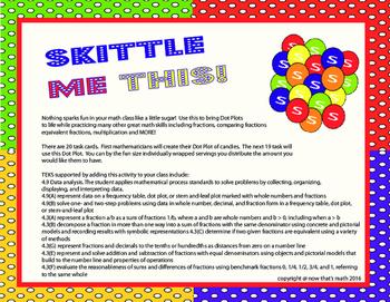 Skittle Me This- Dot Plots Meet Fractions! TEKS 4.9 4.3