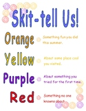 Skittles Activity ~ Back to School