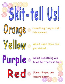 Skittles Activity ~ Back to School