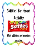 Skittles Bar Graph Activity (With Addition and Rounding Practice)