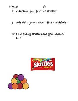 Skittles Bar Graph Questions