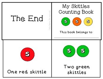 Skittles Candy Fun Counting Emergent Reader