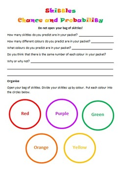 Skittles Chance and Probability (Editable)