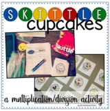 Skittles Cupcake Math - Multiplication & Division Activity