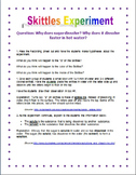 Skittles Experiment STEM (Lesson Plan and Recording Sheet)