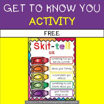 Skittles - First Day of School Ice Breaker - FREEBIE