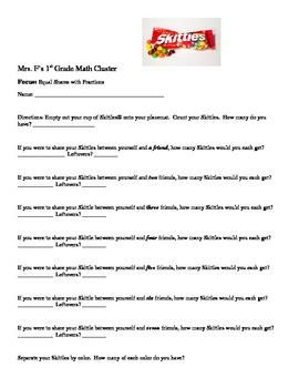 Skittles Fraction Fun