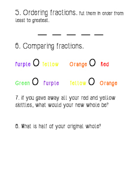 Skittles Fraction Practice