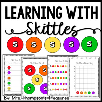 Skittles Candy Fun Activity Pack {Graphing, Sorting, Patte