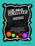 Skittles Graphing, Data, and Fractions Activity! Different
