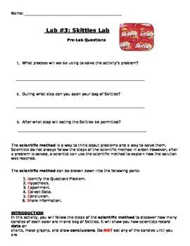 Skittles Lab: Scientific Method