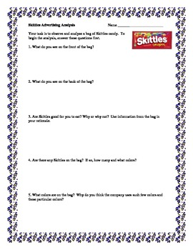 Skittles Math: A Set of 6 Hands-On Math Activities