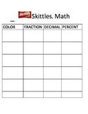 Skittles Math Fractions/Decimals/Percentages