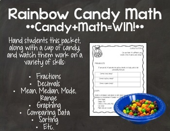 Rainbow Candy Math Packet