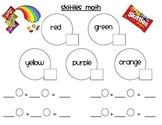 Skittles Math addition