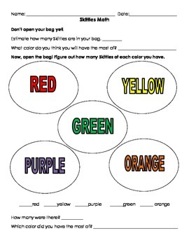 Skittles Math and Activity Pack