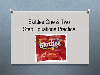 Skittles One & Two Step Equations Practice