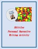 Skittles Personal Narrative Writing Activity