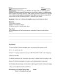 Skittles Scientific Method Lab