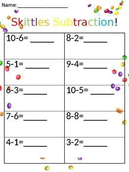 Skittles Subtraction