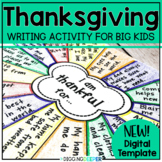 Thanksgiving Writing Activity and Craft for Big Kids Dista