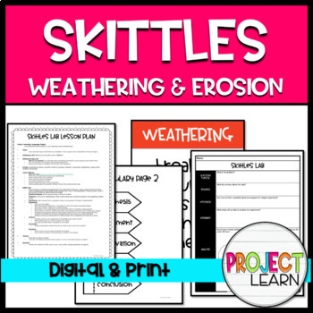 Skittles Weathering and Erosion Lab  / Scientific Method / Differentiated