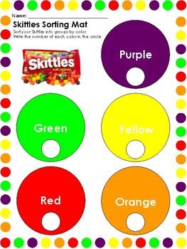 Skittles themed Math Activities