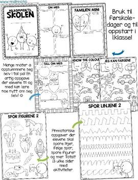 Skolestartpakke for de minste - Førskolehefte [BM & NN]
