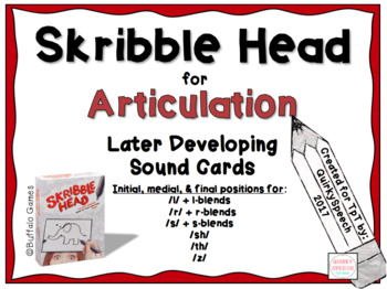 Skribble Head for Articulation: Later Developing Sounds