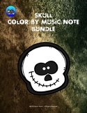 Skull Color By Music Note Rhythm Coloring BUNDLE