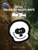 Skull Color By Music Note Rhythm Coloring - Sixteenth Notes