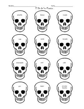 Skull Coloring Sheet