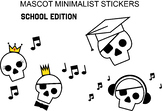 Skull & Pirate School Stickers/Icons including graduation
